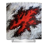Endeavor Abstract Expressionism Shower Curtain
