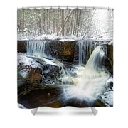 Enders Ice Shower Curtain
