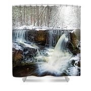 Enders Ice Square Shower Curtain