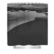Endless Dunes Black And White Shower Curtain