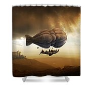 Endless Journey - Steampunk Incredible Adventure Shower Curtain