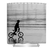 Endless Possibilities - Black And White Shower Curtain