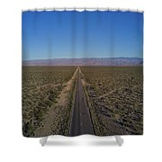 Endless Road Aerial  Shower Curtain