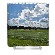 Endless Sky At The Farm Shower Curtain