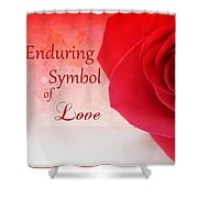 Enduring Symbol Of Love Shower Curtain