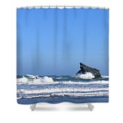 Energizing Waves Shower Curtain
