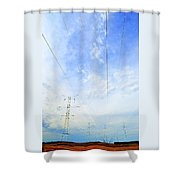 Energy Above And Below Two  Shower Curtain