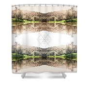 Energy And Light  Shower Curtain