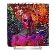 Energy Meridian Shower Curtain by Joseph Mosley