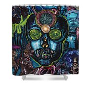 Energy Self Portrait Shower Curtain