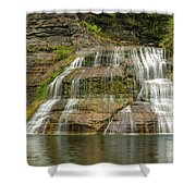 Enfield Falls Tompkins County New York Shower Curtain