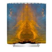 Enfolding Fire Shower Curtain