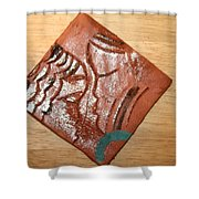 Engage - Tile Shower Curtain