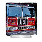 Engine 19 Shower Curtain