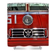Engine 51 Grill Shower Curtain