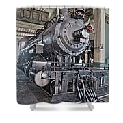 Engine 542 Embossed Shower Curtain
