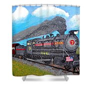 Engine #7 D1 Shower Curtain