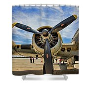 Engine B-17 Shower Curtain