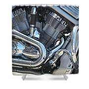 Engine Close-up 1 Shower Curtain