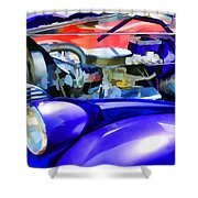 Engine Compartment 11 Shower Curtain