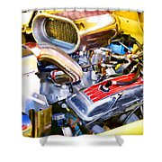 Engine Compartment 5 Shower Curtain