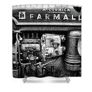 Engine - Farmall Tractor  Shower Curtain
