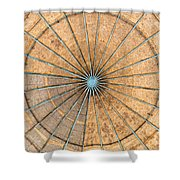 Engineered Wood Dome Shower Curtain
