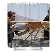 Engineers Mount A Scaneagle Unmanned Shower Curtain