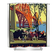 England And Scotland, Bridge Shower Curtain