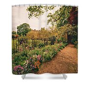 England - Country Garden And Flowers Shower Curtain