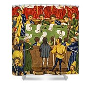 England: Court, 15th Century Shower Curtain