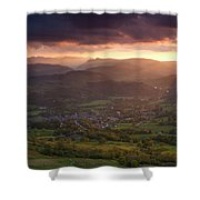 England, Cumbria, Lake District National Park Shower Curtain