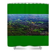 An Aerial Vision Of England Shower Curtain