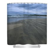 England, Lindisfarne Storm Approaching Shower Curtain
