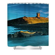 England, Northumberland, Dunstanburgh Castle Shower Curtain