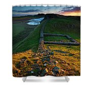 England, Northumberland, Hadrians Wall Shower Curtain