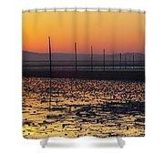 England, Northumberland, Pilgrims Causeway Shower Curtain