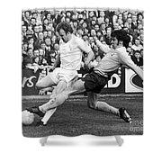 England: Soccer Match, 1972 Shower Curtain by Granger