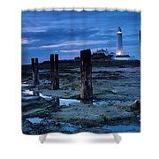 England, Tyne And Wear, St Marys Lighthouse Shower Curtain