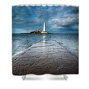 England, Tyne And Wear, Whitley Bay  Shower Curtain