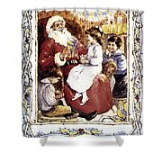 English Christmas Card Shower Curtain