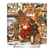 English Christmas Cards Shower Curtain