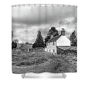 English Cottage In Winter Shower Curtain