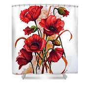 English Poppies 2 Shower Curtain