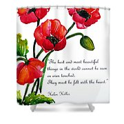 English Poppy   Poem Shower Curtain