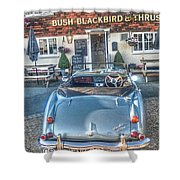 English Pub English Car Shower Curtain