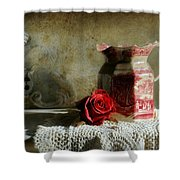 English Rose Water  Shower Curtain