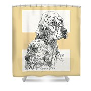 English Setter And Pup Shower Curtain
