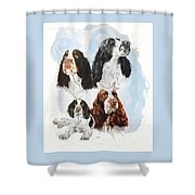 English Springer Spaniel W/ghost Shower Curtain