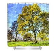 English Summer Farm Art Shower Curtain